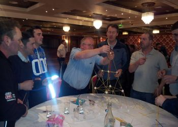 P66 Contractors Away Day 2012 : Building Scaffolding with Marshmallows